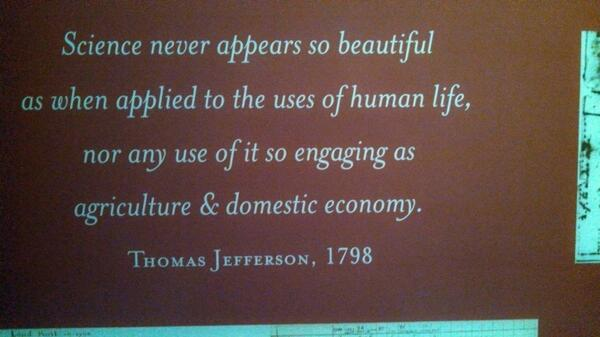 From Fred Vocasek: Saw this on a wall in the visitor center of Thomas Jefferson Memorial in Washington D.C. http://t.co/DNqcuSSL3U