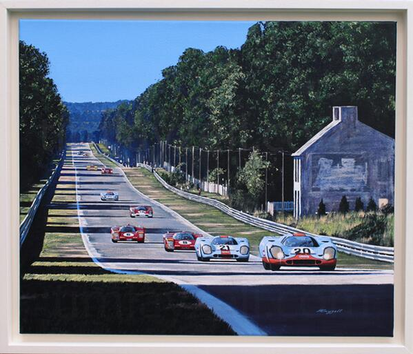 """@timlayzellart: New Original #Painting  #Porsche vs #Ferrari on Mulsanne @24hoursoflemans 1970 http://t.co/UzCbGS8OUo"" Fantastic!"