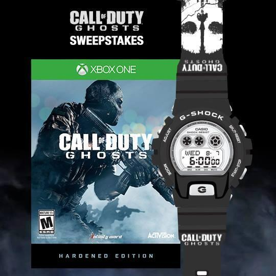 G-Shock X @CallofDuty: Ghosts watch & game sweepstakes @ http://t.co/bFisjlQz0a  #gshockghosts http://t.co/PbGlqCN2vi
