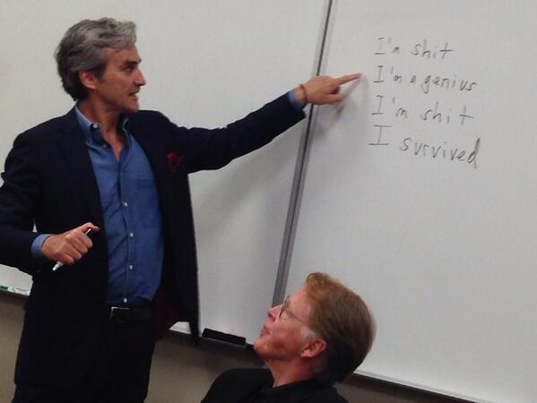The four stages of writing from @TomJunod, speaking to Enterprise Journalism class. Wonderful. http://t.co/8Lk5cwI3vc
