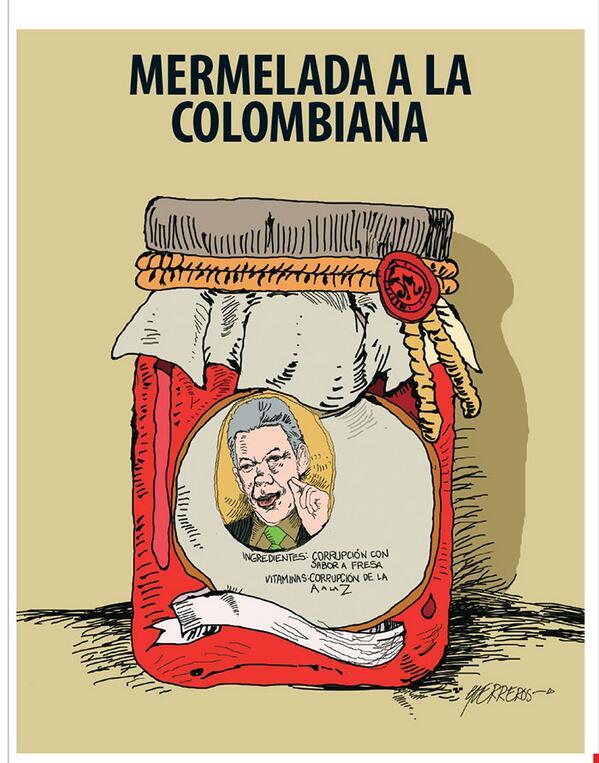 "[#Caricatura] ""Mermelada a la colombiana"", por Guerreros >> http://t.co/iUzqKZjUFp http://t.co/kC0resLaeW"