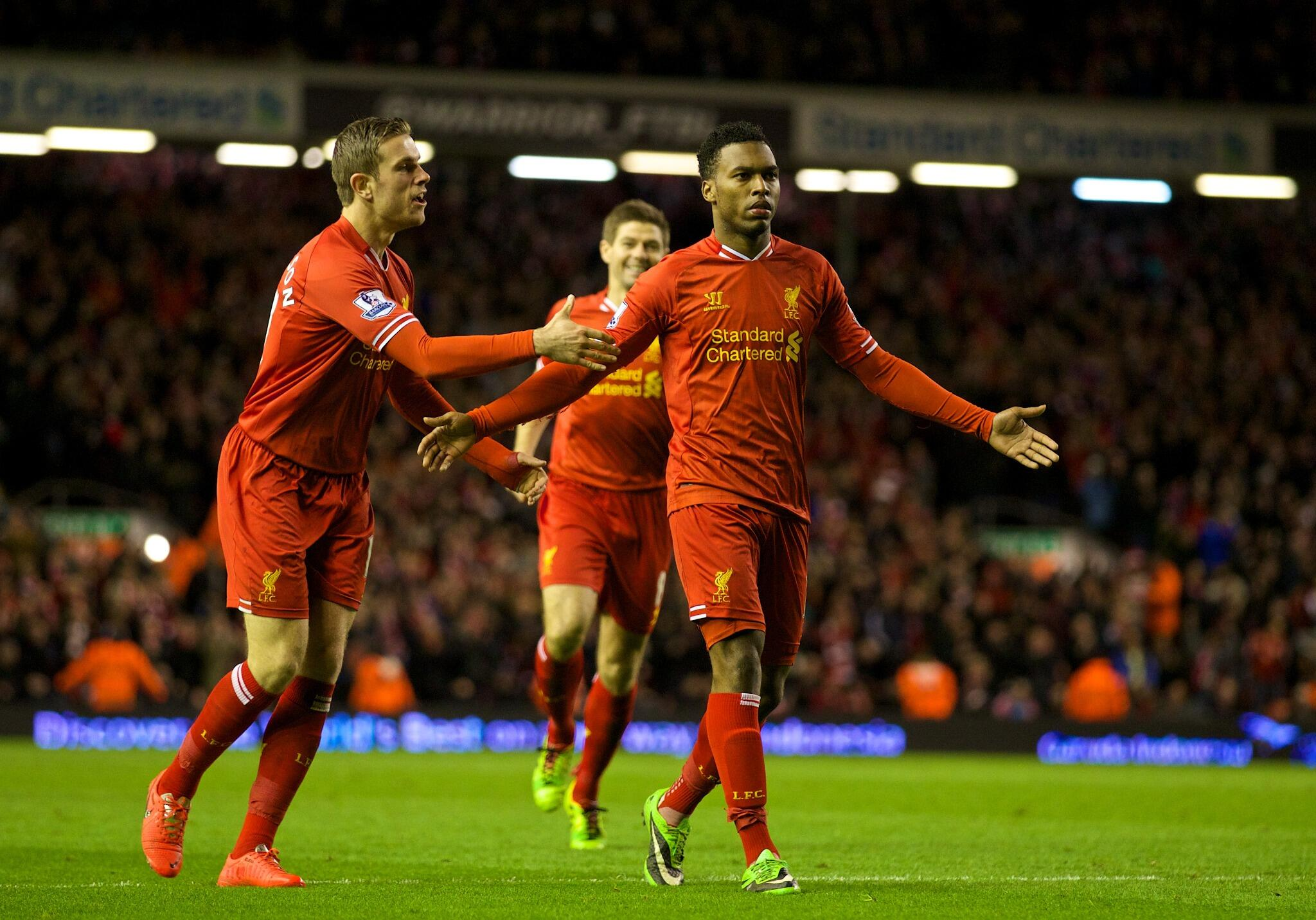 PHOTO: @D_Sturridge celebrates giving #LFC a two-goal cushion http://t.co/rXid1MkE5Y