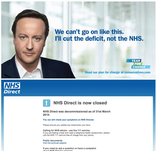 So how's that going Dave? #NHSdirect http://t.co/wzPUL0e6GC