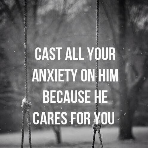 Cast all your anxiety on Him. http://t.co/pPBNJthFSU