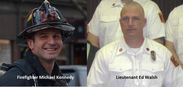 "This is what a heroic person looks like: ""@BogsWBZ PHOTOS of #Boston firefighters Michael Kennedy, Lt. Ed Walsh #wbz http://t.co/MaBsKeNRnN"""