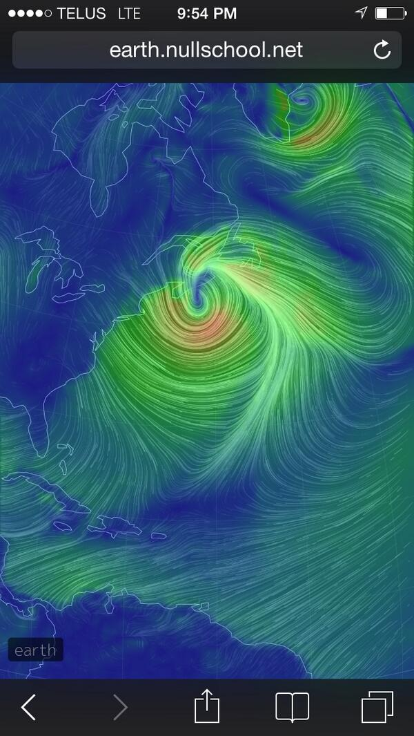 Wow. A view of #AtlStorm from the Earth Wind Map http://t.co/R5XwRc4SeJ