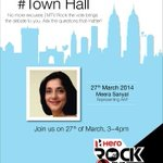 RT @firstpostin: Have questions for @AamAadmiParty? Ask @meerasanyal. Tweet to us with #TownHall. #RockTheVote