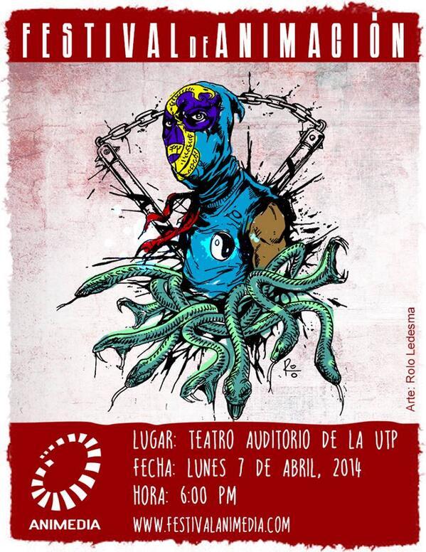 Festival Internacional de Animación Digital en Panamá, ANIMEDIA 2014 @utppanama @utptv @CIDITIC Entrada Gratuita! http://t.co/VfnC2kSFW5