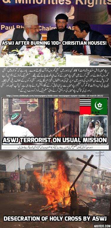 ASWJ's @MAhmadLudhyanvi after burning #Christian houses