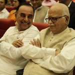 RT @Dharmatma_g: Happy to see swamy sir laughing RT @rameshnswamy: Dr @Swamy39 with Shri LKAdvani, enjoying a moment @jagdishshetty http://…