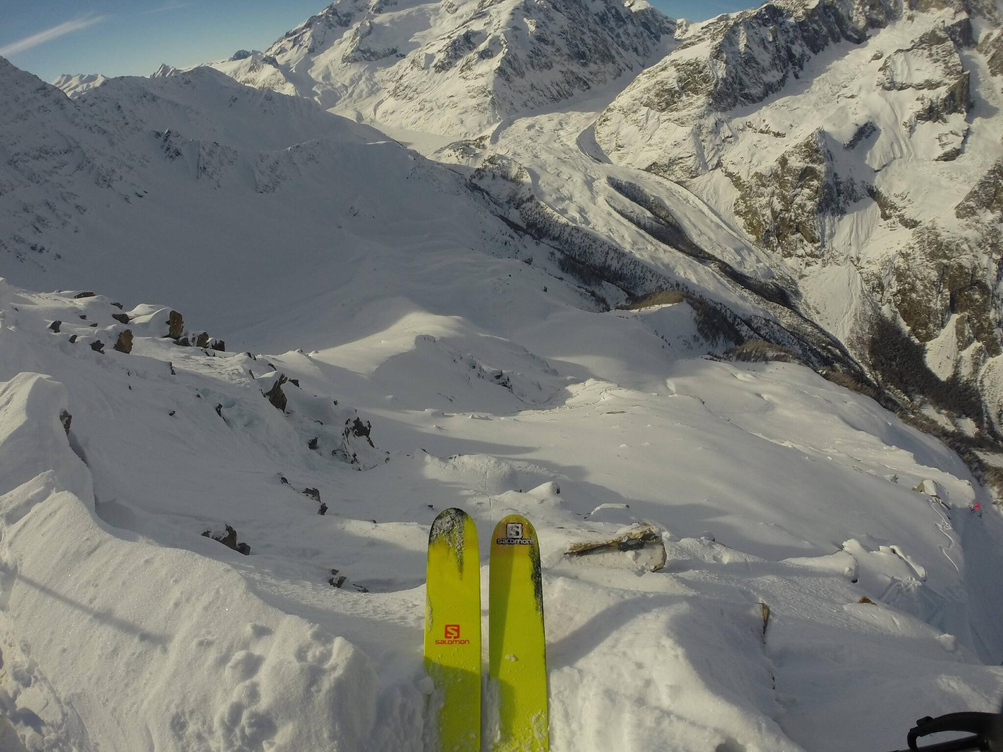 Photo of the Day! Josh Daiek drops into a warmup run at the @FreerideWTour stop in Courmayeur. http://t.co/Y6bM1mchYF