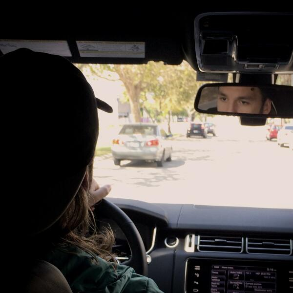 Not backstage yet, but backseat! Are you as ready for #DECADE as our driver? #BackWithABang #MMW2014 #SteveAngello http://t.co/d4bd0WtXfT