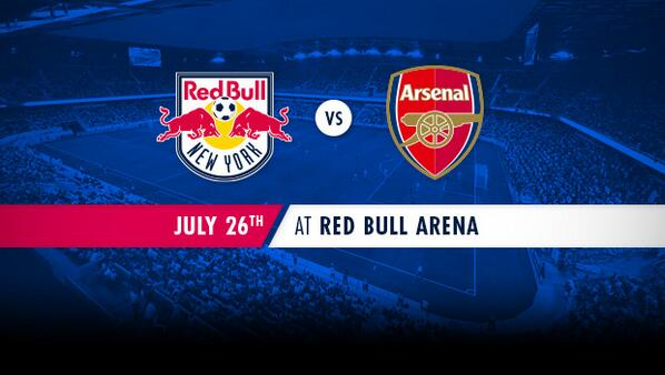 #RBNY to face @Arsenal on July 26 at 5:00 PM at Red Bull Arena. For more: http://t.co/xO6dwiBTqH http://t.co/yCJL6ZTCaH
