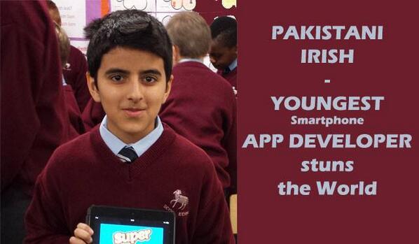 CONGRATS #Pakistan : Youngest Mobile App developer Haris Khan stuns the world. http://t.co/z0poSiEjCq http://t.co/wEXiJ3bu5X