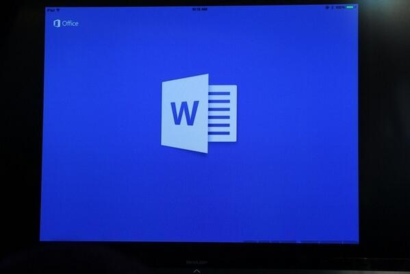 С 22:00 МСК в App Store появляется Office для iPad! Word, Excel, Powerpoint! http://t.co/qGciBuncSV