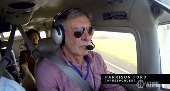 Planet-healer/Climate Activist Harrison Ford: 'I often fly up the coast for a cheeseburger'