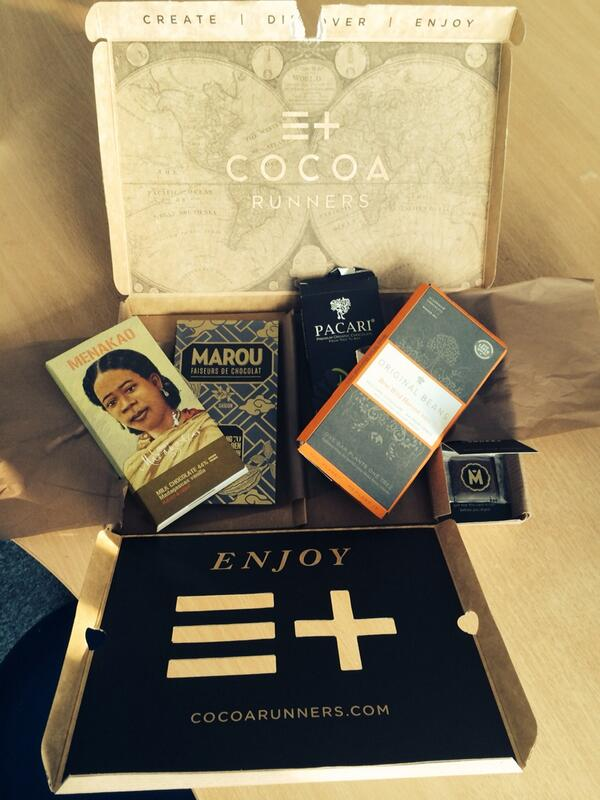 Beautiful box of exquisite chocolate delivered by @CocoaRunners http://t.co/oWNywgt7ut