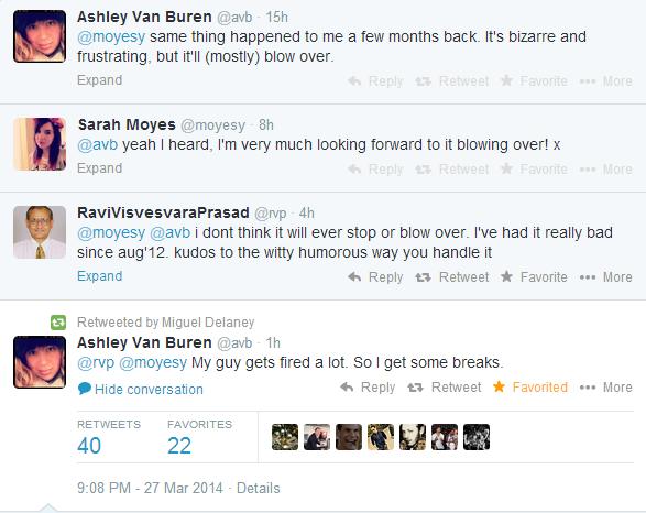 BjvpzU5CUAAsLNA Vicarious Football Accounts Sarah Moyes, @AVB and @RVP rally around each other over Twitter trolls