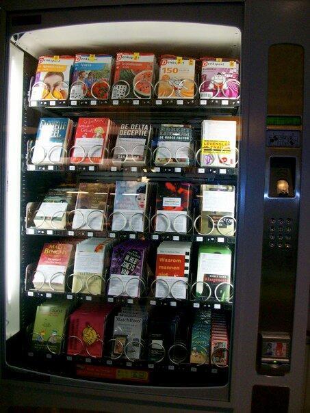 #Génial RT @Karine_Rubiella: Le livre, gourmandise de l'esprit... Distributeur automatique de livres aux Pays-Bas http://t.co/LselUer7ka