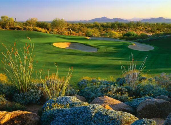 A nice view of Camelback Mountain from Raptor Hole #15. RT if you've ever had fun playing #Raptor! http://t.co/ktv20GDvjY