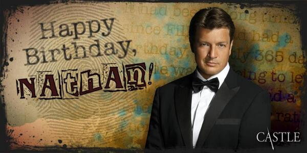 Retweet this post to wish a very Happy Birthday to our own Nathan Fillion! #Castle http://t.co/tAbGOz1Y9c