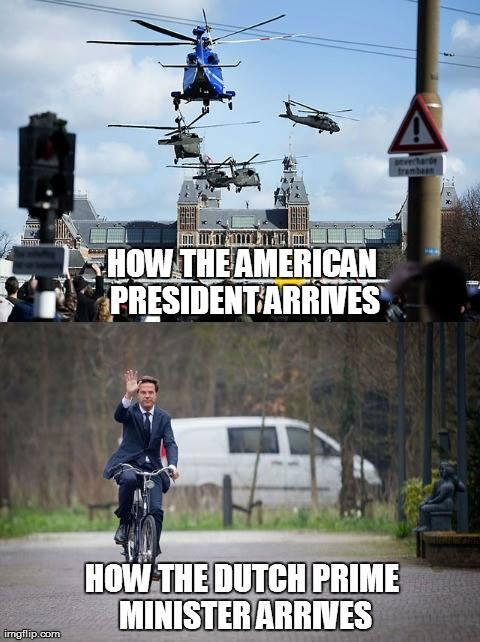 Why the Dutch PM is soooo totally awesome... #cycling http://t.co/1exK5V2tMV