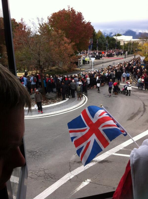 Thousands lining Seymour Square for Royals in Blenheim . Expected in next 10 minutes . http://t.co/AgsIsGD64w