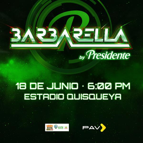 #Barbarella2014 será el 18/06 en el Estadio Quisqueya, con la participación de más de 10 artistas. Don't miss out! http://t.co/rT0jpeLRgR