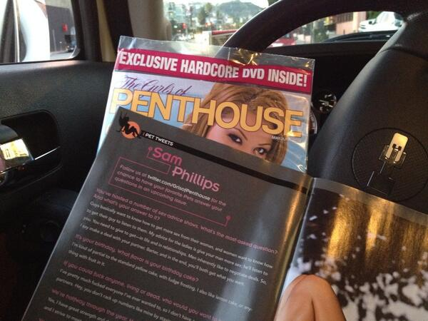 Driving off into the #sunset w/ the May/June issue of @GrlsofPenthouse. I'm on pg 16. + @danicadillon @DillionHarper http://t.co/XiVmUJYQLh