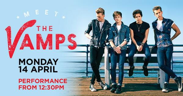 Follow us & RT to win a pair of VIP tickets to see @thevampsband at @westfieldlondon on Monday 14 April. http://t.co/mT70mxAXMd