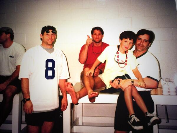 Steve Young, Brett Favre, me and my son at the 1998 @NFL Pro Bowl! #TBT @StephenMariucci @NFLNetwork http://t.co/Hv9CoG08k3