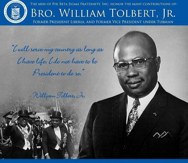 test Twitter Media - RT @PSU_SIGMAS: Bro. William Tolbert, Jr. - Beta Upsilon Sigma chapter #SigmasInHistory #TBT http://t.co/v2rRE82zbx