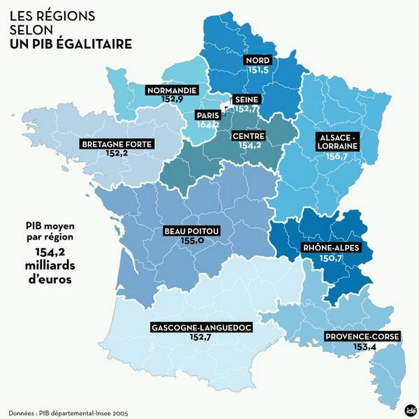 Par PIB, dialectes ou habitudes alimentaires: 6 façons de redécouper la France en 11 régions http://t.co/8NTkzrqsrA http://t.co/8xvbdFlFRU