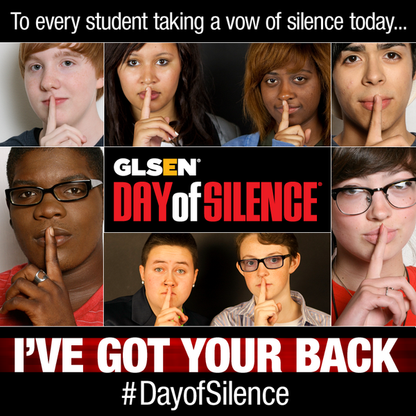 The #DayofSilence is here! Show your support for everyone who is participating: http://t.co/gcefyLw6KK