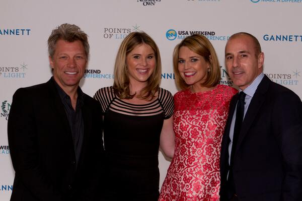 Jon Bon Jovi was honored for his commitment to giving back at the Make A Difference Day Awards http://t.co/dSnIcUvNGX http://t.co/pUFOSIuuVM