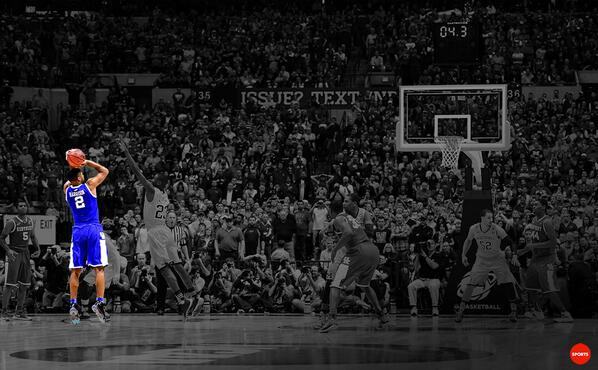 Aaron Harrison's game-winning shot: http://t.co/bRxIdxUwYB  Clutch http://t.co/VxAmZJNp15