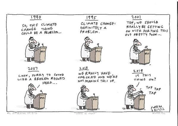 Really, all we need to know about the big IPCC reports on climate. Seriously. http://t.co/WKbbLb7yAg via @JPvanYpersele & @ProfRayWills