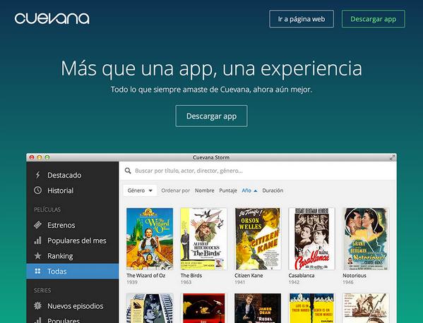 Te presentamos Cuevana Storm. Más que una app, una experiencia. http://t.co/O6Ksfdomke http://t.co/ntTtaQ95Cu