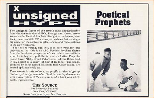 Mobb Deep was originally Poetical Prophets when we honored them in @TheSource's Unsigned Hype in '91. cc: @MatteoGlen http://t.co/fd57nv3IdV