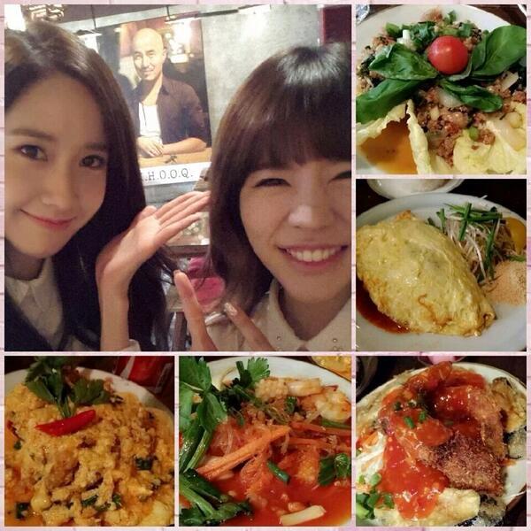내 이쁜동생들 소녀시대 써니와윤아. 마이타이에서 폭풍흡입 ㅎ 너무 이쁘죠? http://t.co/GNP0k8BbmQ