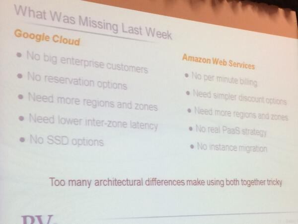 #ccevent @adrianco on what was missing in last week's Amazon and Google announcements http://t.co/u2ecL8rEGk