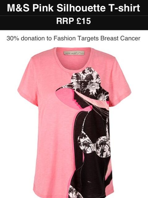 We love this cute t-shirt by @MarksandSpencer for the @FashionTargets #BreastCancer @BreakthroughBC Campaign #Fashion http://t.co/7AYwlEp6l2