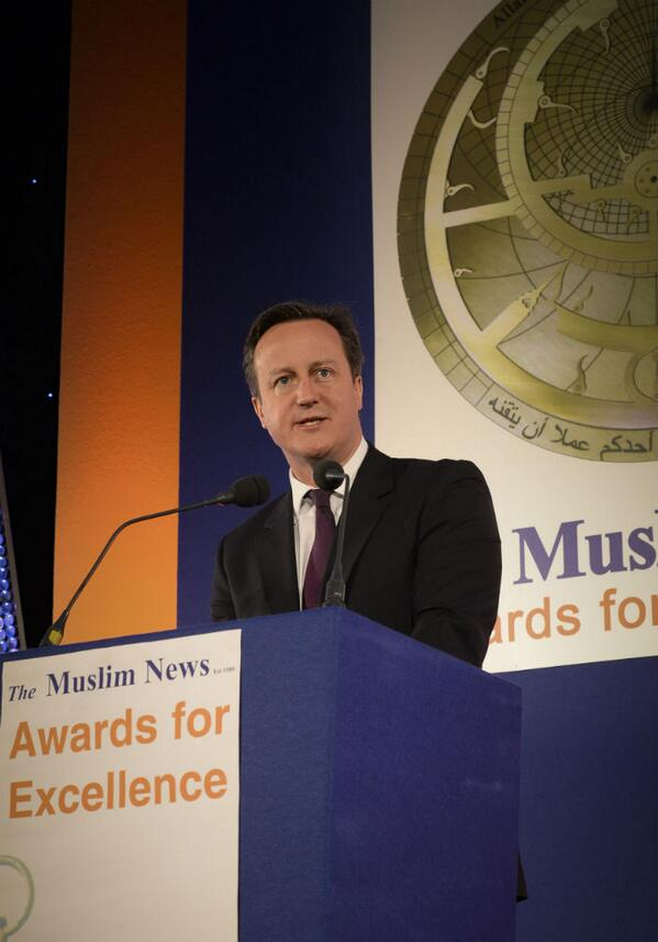 PM: Delighted to take part in Muslim News Awards - celebrating the very best of British Muslims #InspiringMuslims http://t.co/0j17JbsIai