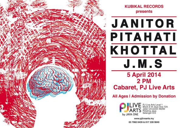 SATURDAY 5 APR | 2pm @ Cabaret: Kubikal Records presents @Pitahati, @khottal, Janitor and JMS. http://t.co/dmNrqRMQpa http://t.co/Q5JmMM0dtY