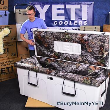 Introducing the YETI Casket. The YETI serious outdoorsmen are dying to own. #BuryMeInMyYETI http://t.co/FN8kCWE1sE http://t.co/q9lTWmOC8K