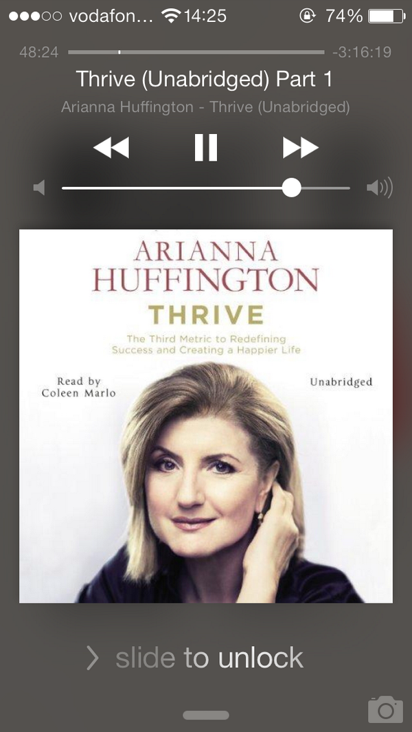 I recommend EVERY woman in business to read @ariannahuff's new book THRIVE. Long time coming! It'll change your life http://t.co/KbAg9Hh7Dm