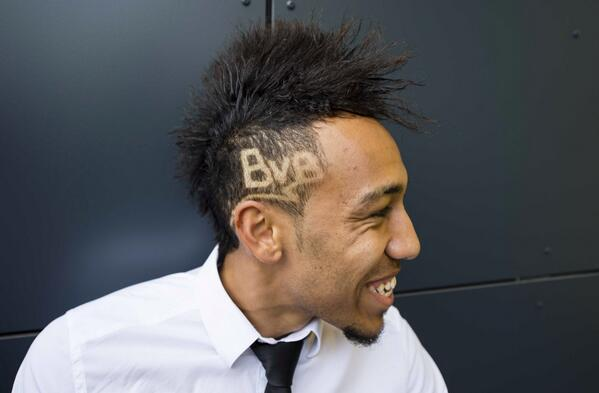 BkIG2MwIAAACdQS Borussia Dortmunds Pierre Emerick Aubameyang has had a special haircut for the Real Madrid match [Pictures]
