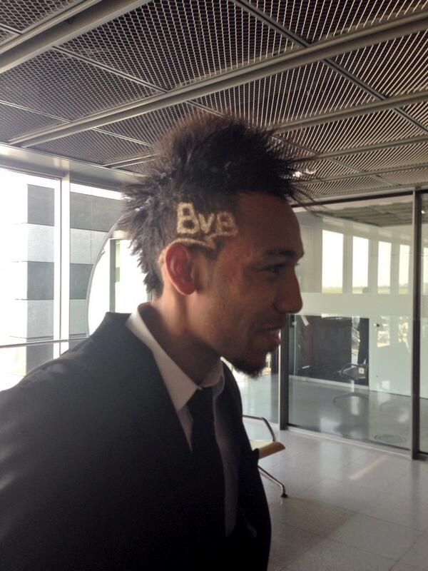 BkINjRdCcAAE0xZ Borussia Dortmunds Pierre Emerick Aubameyang has had a special haircut for the Real Madrid match [Pictures]