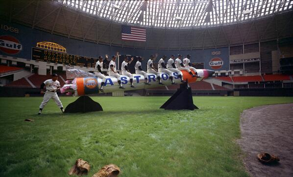 Your 1965 @astros inside the newly built #Astrodome. Pic taken before the season opener. More: http://t.co/BX5dGGgbt2 http://t.co/riL8uqnex7