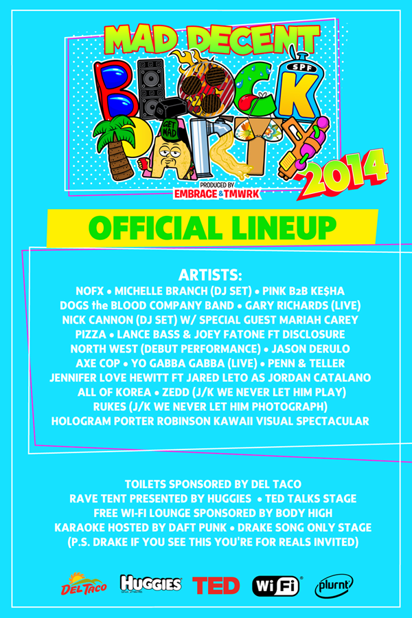 Official #MDBP2014 lineup revealed! http://t.co/jtC5hWsPw2